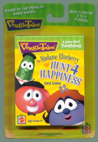 Veggie Tales Madame Blueberry CARD GAME veggietales NEW