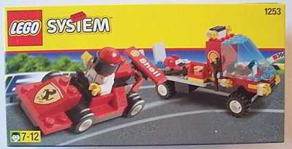 Lego SHELL Ferrari Race Car & Truck NEW retired 1999