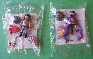 Lot of 2 Playmobil figures GOLD DRAGON + BLACK LION Leader NEW
