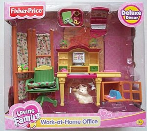 Fisher Price WORK AT HOME OFFICE loving family NEW