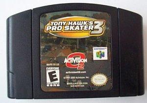 Nintendo 64 TONY HAWK PRO SKATER 3 game cartridge   N64