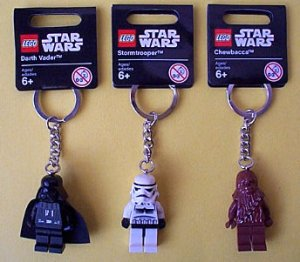 Lot Of 3 Lego Star Wars Key Chains New Darth Vader Chewbacca