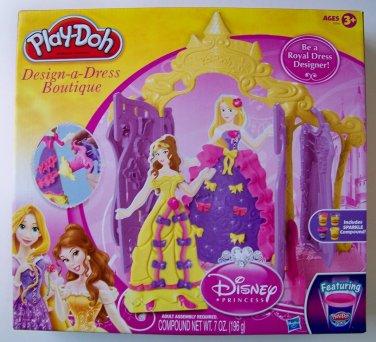 Play-Doh Disney Princess Design a Dress Boutique Set NEW Belle Rapunzel