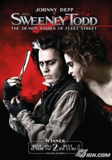 Sweeney Todd: The Demon Barber of Fleet Street (2007) DVD HORROR Starring Johnny Depp
