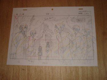Hiiro no Kakera Genga set The Five Guardians and Tamaki & Aria