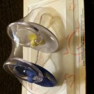 Gerber SOFT CENTER BULB PACIFIERS - Blue/White -Hard to Find!!