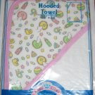 Colorful HOODED TERRY BABY BATH TOWEL - Pink - GIRL!!