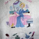 Oh LaLa Bath Towel set Setting of Women in Front of Vanity