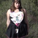 Retro Style Heart Shaped Apron Pin Up Girl Fabric