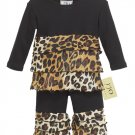 Leopard Print Rumba Outfit Long Sleeve- 3-6 months