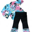 Rainbow Tie Dye Outfit Long Sleeve- 3-6 months