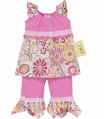 Pink Hankie Capri Outfit 3-6 months