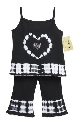 Black and White Tie Dye Heart Outfit 3-6 months