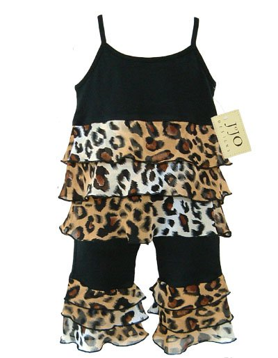 Leopard Print Rumba Outfit Short Sleeve 3-6 months