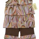 Chocolate and Pink Swirl Rumba Outfit 3-6 months