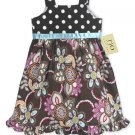 Chocolate and Pink Floral Dot Dress 6-12