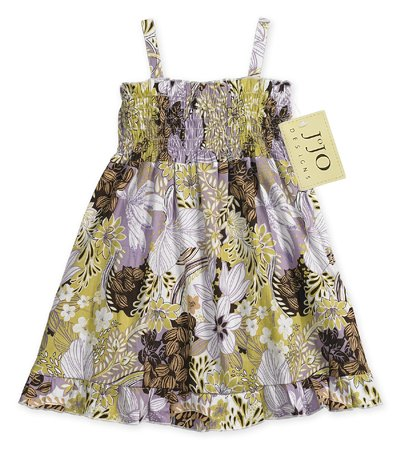 Purple and Green Smocked Dress 6-12