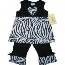 Zebra Print Heart Outfit 6-12