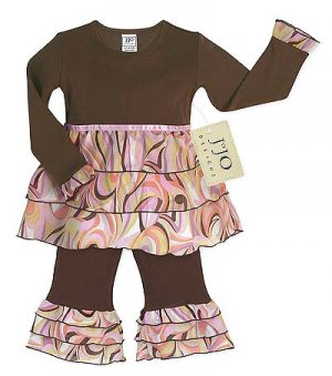 $2.00 Raffle Item! Pink and Chocolate Swirl Rumba Outfit