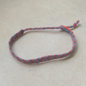 macrame bracelet pink, purple, red, turquoise