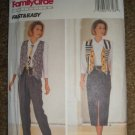 Butterick Sewing Pattern 6682 Misses Size 12 14 16 Easy Vest Tie Shirt Skirt Pants Uncut