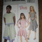 Butterick Sewing Pattern B4546 Girl Size 7 8 10 12 14 Easy Top Skirt Uncut