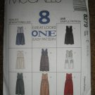McCall's Sewing Pattern 8279 Misses Size 10 12 14 Jumpers in Two Lengths 8 Great Looks Uncut