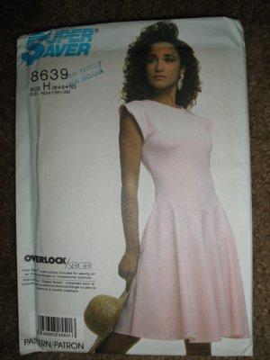 Simplicity Super Saver Sewing Pattern 8639 Misses Size 6 8 10 Dress Uncut