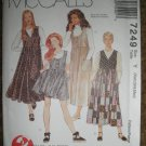 McCalls Sewing Pattern 7249 Misses Size XSmall 4-6 Small 8-10 Med 12-14 Jumper in Two Lengths Uncut