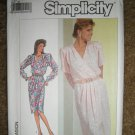 Simplicity Sewing Pattern 7888 Misses Size 10 Front Mock-Wrap Dress Uncut