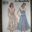 Simplicity Sewing Pattern 8250 Misses Size 6 8 10 12 14 16 Dress With Collar Uncut