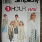 Simplicity Sewing Pattern 8744 Misses Size XS S M Lined Vest