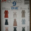 McCall's Sewing Pattern 7191 Misses Size XSM SM MED Dress Jumpsuit 9 Great Looks