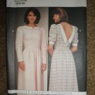 Butterick Sewing Pattern 6344 Misses Size 6 8 10 Back Button Dress Uncut