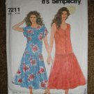 Simplicity Sewing Pattern 7211 Misses Size 8 10 12 14 16 18 20 Dress Uncut