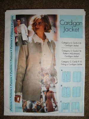 Sewing Step-by-Step Pattern 012-052-104 Misses Size 4-22 Cardigan Uncut Plus Extras