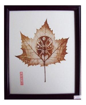 UNIQUE BOTANICAL PRESSED LEAF SCULPTURE FLORAL GIFT HOME D�COR, FRAME PRESSED FLOWER LEAF ART