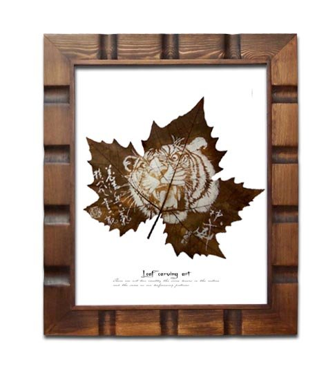 HANDMADE PRESSED LEAF SCULPTURE, UNIQUE FRAMED LEAF ART FOR HOME DECOR 03