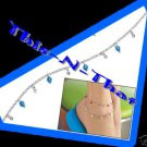 Anklet Shades of Brights BLUE Matches The Necklace Set