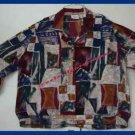 Womens Alison Daley Blouse Multi Colors Long Sleeve 2XL