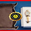 Watch Sparkling Gift Set w/eargs+CatchAll Tray-Goldtone