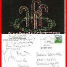 Post Card WV Christmas Wheeling, West Virginia, Oglebay Festival Lights 1992