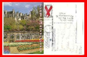 Post Card NC Biltmore Estate Walled Garden Blooms North Carolina, Spring 1994