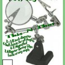 Magnifying Jewelers/Fisherman Tool w2 third hand CLAMPs