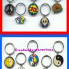 Key Chains ~Lot of 10 Metal Unique Looking (Never Used)