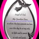 Plaque Light-Up Angel with Inspirational Prayer NIB