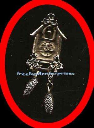 Pin Cute Cuckoo Tack Pin Goldtone 1 1/4 inch long 1981