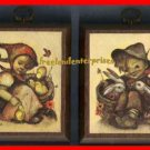 Picture Hummel Wooden Plaque Pictures Girl & Boy Set -2