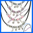 Necklace Beaded on Rubber Cord with Acrylic beads (Set of 4 altogether in sale)