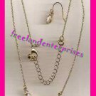 Necklace & Earring Gift Set Sparkling Cluster Goldtone ~NEW BOXED~